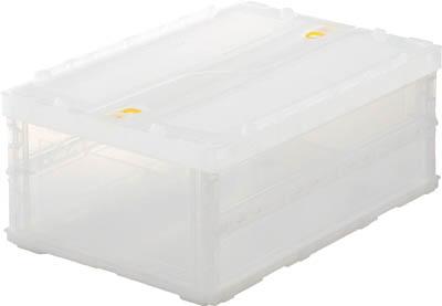 【まとめ買い大特価】TRUSCO 薄型折りたたみコンテナスケル 30Lロックフタ付 透明 10個TSKC30B [344-9408] 【折りたたみコンテナ】[TSK-C30B]【注意】数量は10個になります。
