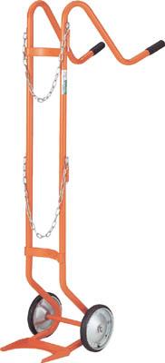 【送料無料!台車が激安価格】TRUSCO ボンベ台車 二輪型 酸素用ボンベ一本積用 HT63N [285-9289] 【二輪運搬車】[HT-63N]