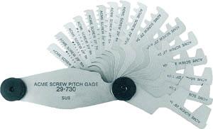 【送料無料!TRUSCO工具 お買い得特価(トラスコ中山)】TRUSCO アクメスクリューピッチゲージ 測定範囲2-20mm 12枚組 30720 [229-6250] 【ゲージ】[30-720]