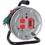 【送料無料!電工ドラム(コードリール)が割引特価】日動 電工ドラム 標準型100Vドラム アース過負荷漏電しゃ断器付 10m NSEK12 [209-8954] 【コードリール】[NS-EK12]