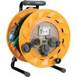 【送料無料!電工ドラム(コードリール)が割引価格】ハタヤ 単相100V型ブレーカーリール 20m アース付 とび出しプラグ付 BR201KX [106-3201] 【コードリール】[BR-201KX]
