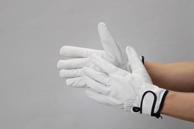 送料無料 正規認証品!新規格 合計10 000円以上で代引き手数料無料 開催中 TRUSCO 豚革裏地付マジック止手袋 手袋 TYK-717-LL TYK717LL LLサイズ 374-7565