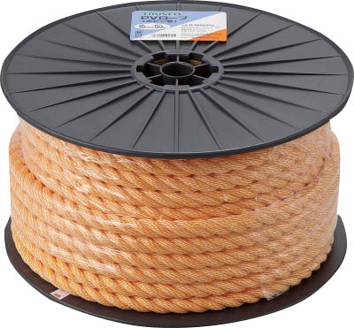 【送料無料!TRUSCO工具が安い(トラスコ中山)】TRUSCO PVロープ 3つ打 線径16mmX長さ50m R1650PV [511-2966] 【ロープ】[R-1650PV]
