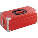 【送料無料!工具箱が割引特価】TONE ツールケース(メタル) V形2段式 433X220X160mm レッド BX322S [390-4351] 【スチール製工具箱】[BX322S]