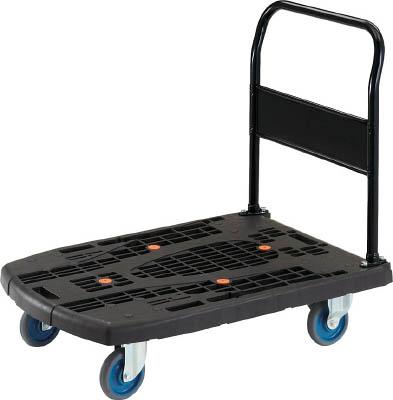 【送料無料!台車が格安価格】TRUSCO カルティオビッグ 固定 900X600 黒 MPK900BK [408-6708] 【樹脂製運搬車】[MPK-900-BK]