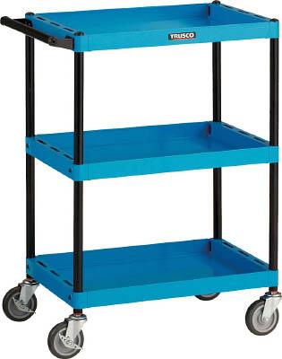 【送料無料!TRUSCO工具 お買い得特価(トラスコ中山)】TRUSCO ツールワゴンベスト サイドハンドル 3段 W色 TWBS643W [414-3698] 【パイプ式ワゴン】[TWBS-643-W]【注意】写真は、青色です。ご注意下さい。