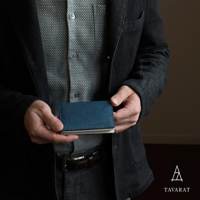 [タバラット]名刺入れ メンズ レザー カードケース 日本製 黒桟革 Tps-084 ラッピング無料