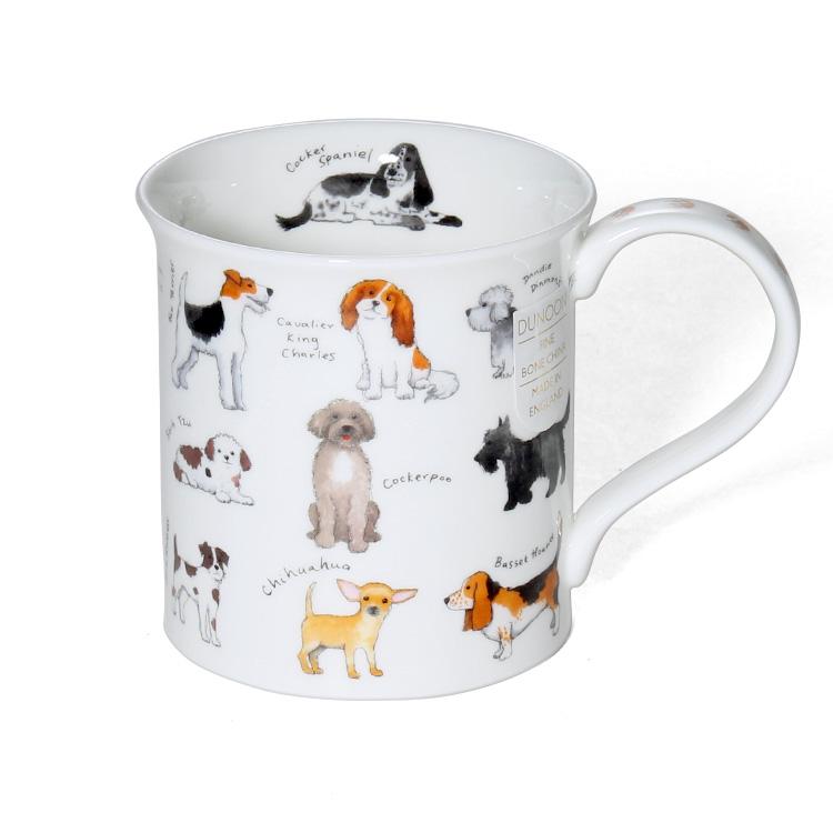 おすすめ特集 送料無料 ダヌーン Dunoon BUTE カップ マグ 食器 お気に入りの犬はど~れ? ANIMAL BREEDS ギフト マグカップ プレゼント 結婚祝い 正規販売代理店 贈り物 Mug DOG イヌ
