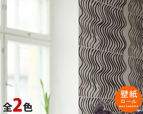 選べる2色 マリメッコ シルッキクイッカ 壁紙 幅70cm marimekko SILKKIKUIKKA Essential(定番シリーズ)(他の商品との同梱不可) 【輸入壁紙】【あす楽対応】