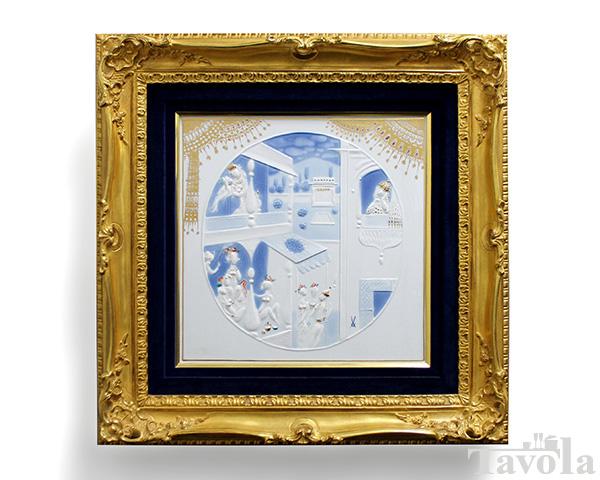 マイセン アラビアンナイト プラーク/陶板画 『アラビアンナイトハーレム』 額入り [送料無料]