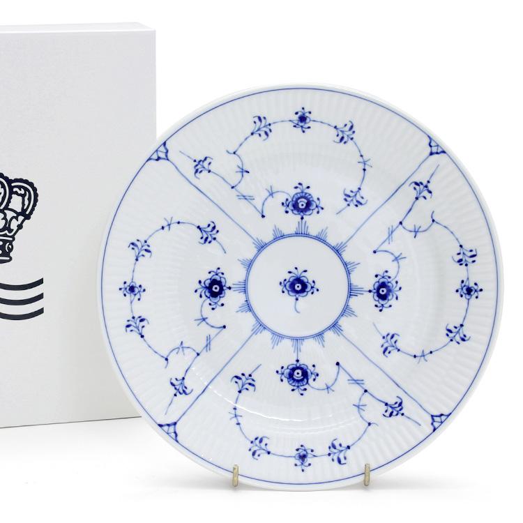 ロイヤルコペンハーゲン 101 ブルーフルーテッド・プレイン(プレーンレース) 625 プレート 25cm フラット 【お皿】【あす楽対応】【ラッキーシール対応】