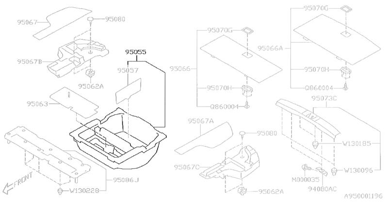 【STI-スバル】【代引不可】『95055VA002』SPORTS PARTS for LEVORGレヴォーグ用 サブトランクボックスリアフロア