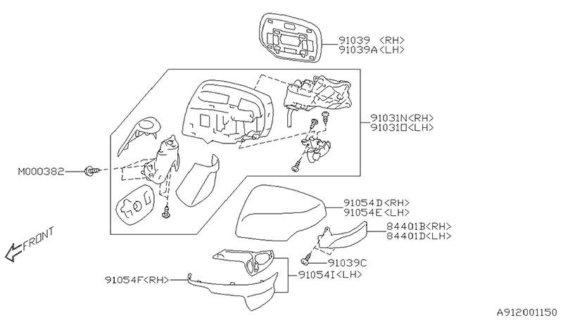 【お客様専用ページ】【スバル純正品】SJ5 リアビューミラー(左のみ/カラー:WU) セット(ユニット、ミラーリペア、キャップ、ランプ、サブミラーカバー)補修部品セット フォレスター サイドミラーレフト ドアミラー