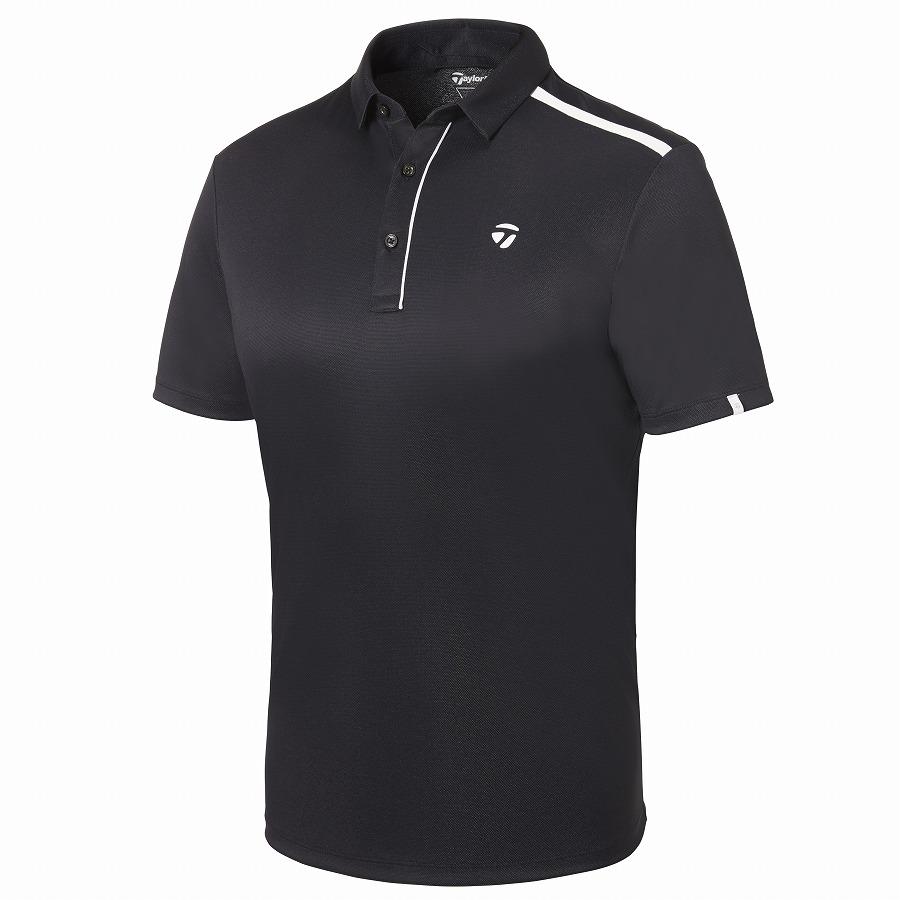 テーラーメイドゴルフ(TaylorMade Golf) ラインドショルダー S/S ポロ/ブラック/ホワイト /KY676 /U32849