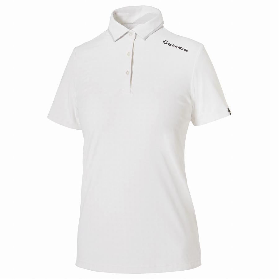 テーラーメイドゴルフ(TaylorMade Golf) テイラードクール チップドカラー S/S ポロ/ホワイト /KY689 /U32887