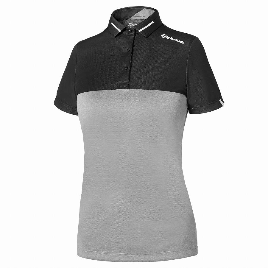 テーラーメイドゴルフ(TaylorMade Golf) カラーブロックジャカード S/S ポロ/グレー/ブラック /KY692 /U32900