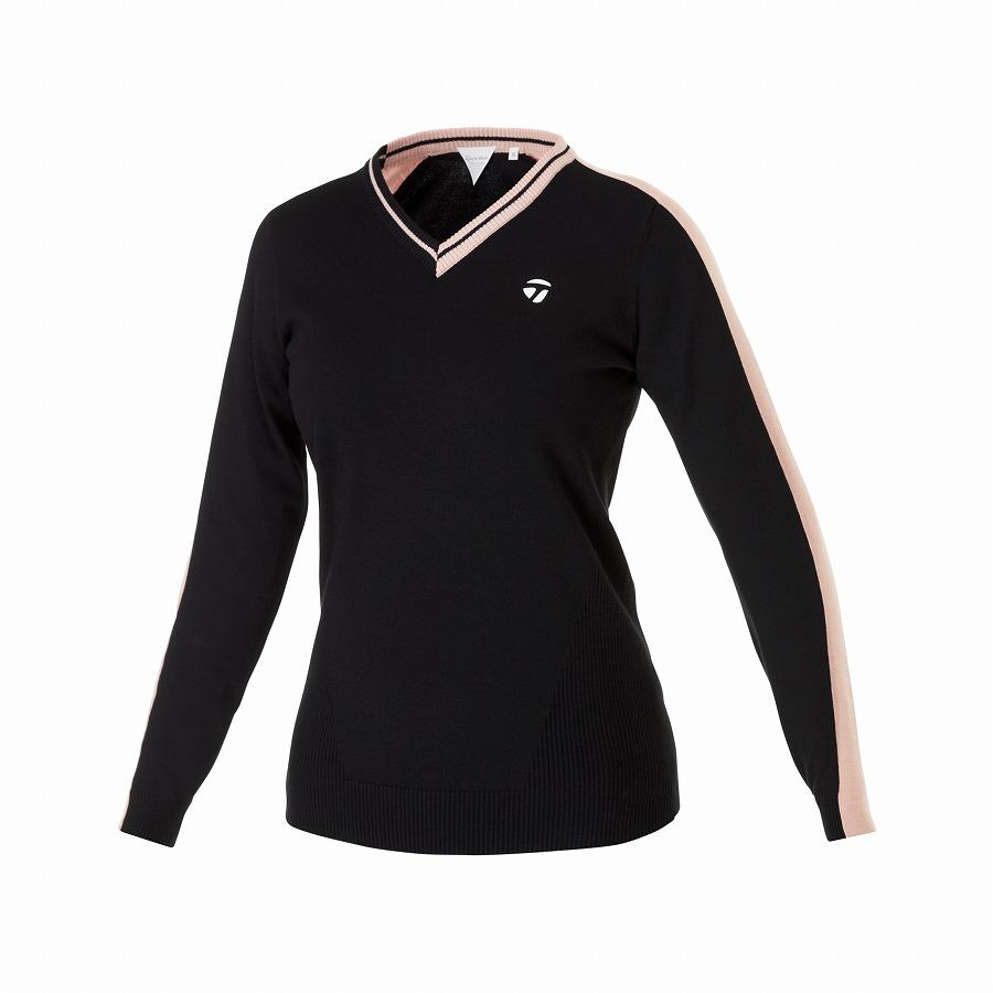 公式ショップ(TaylorMade Golf) テーラーメイド ゴルフ 【ウィメンズ】ベーシックVネックセーター/ブラック