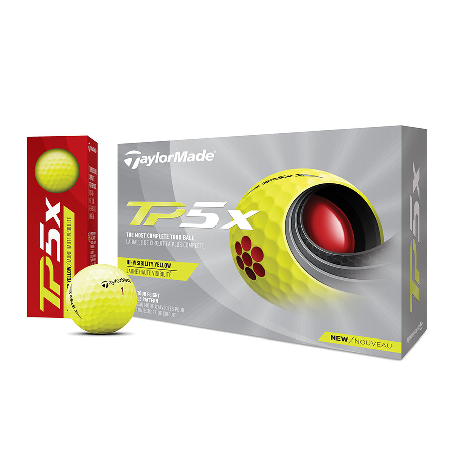 公式ショップ TaylorMade Golf 即日出荷 テーラーメイド 激安超特価 ゴルフ TP5x New イエロー 21' ボール