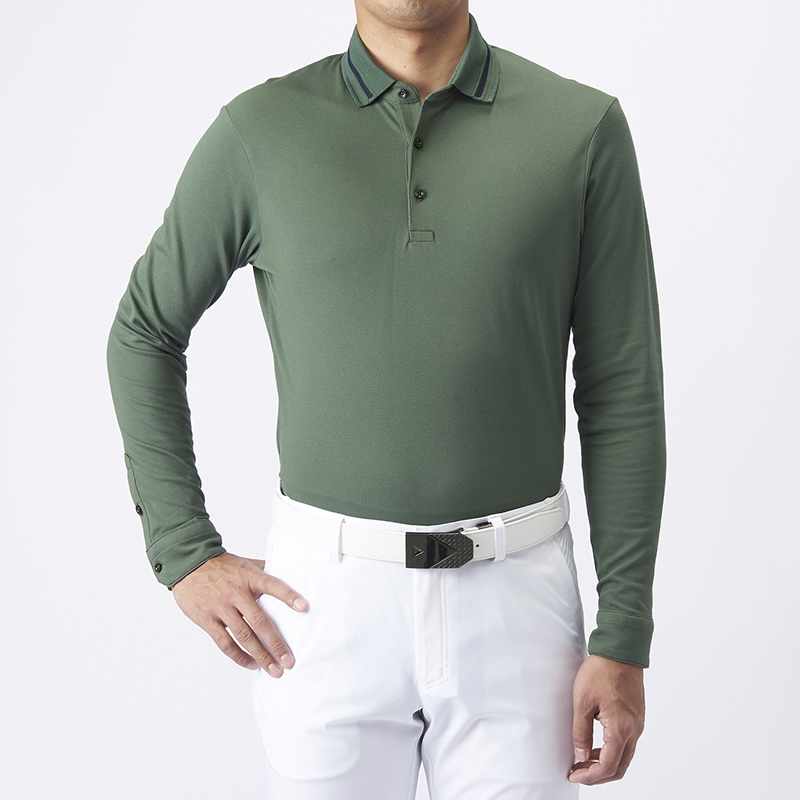 テーラーメイドゴルフ(TaylorMade Golf) テイラード・ピケL/Sポロ/カーキ /KL913 /U23602