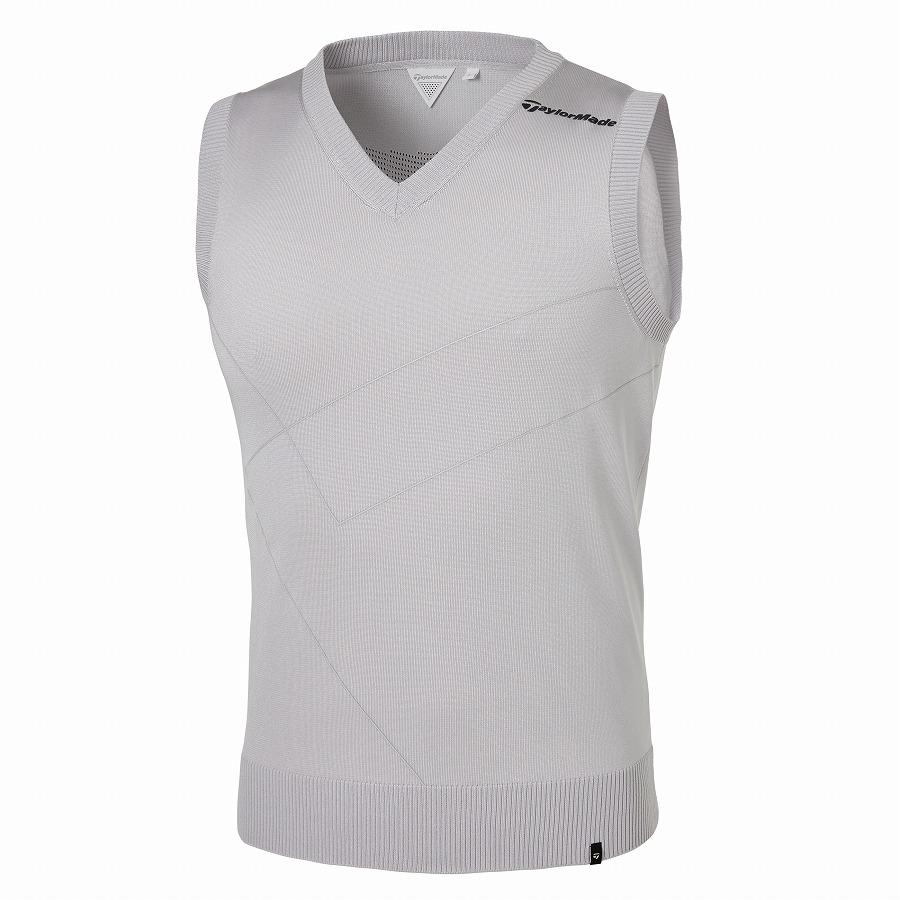 テーラーメイドゴルフ(TaylorMade Golf) Vネックセーターベスト/ライトグレー /KY810 /U32951