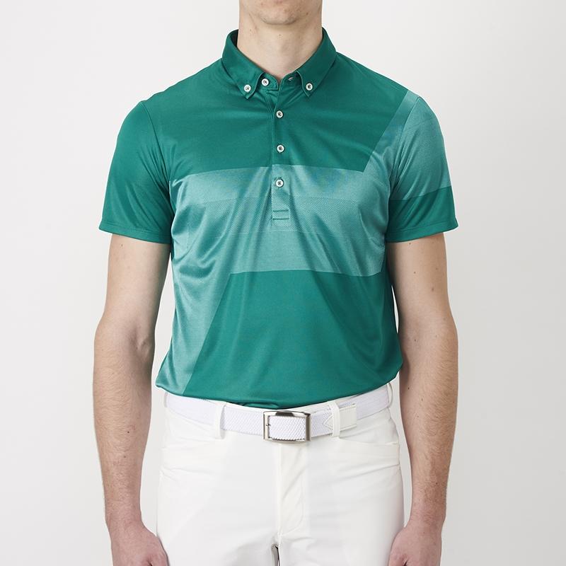 テーラーメイドゴルフ(TaylorMade Golf) テイラード・グラフィックジャカードS/Sポロ/グリーン /KL897 /N64896