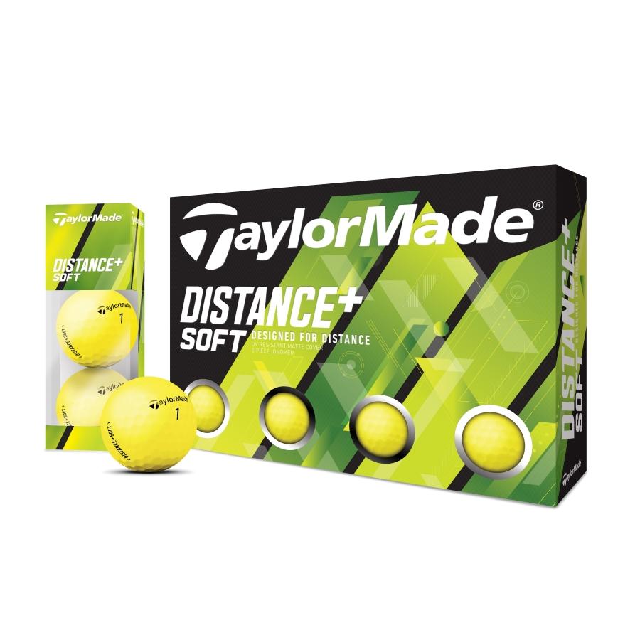公式ショップ 高級な TaylorMade Golf 高級品 テーラーメイド ゴルフ ディスタンス+ ボール ソフト マットイエロー