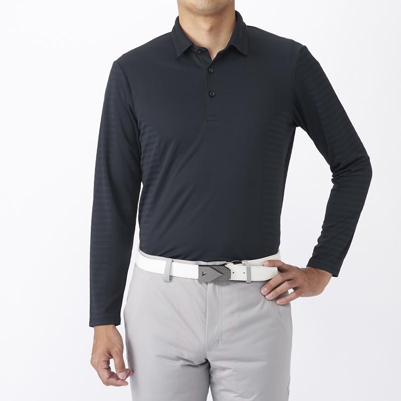 テーラーメイドゴルフ(TaylorMade Golf) テイラード ストレッチジャカードL/Sポロ/ブラック /KX673 /U23606