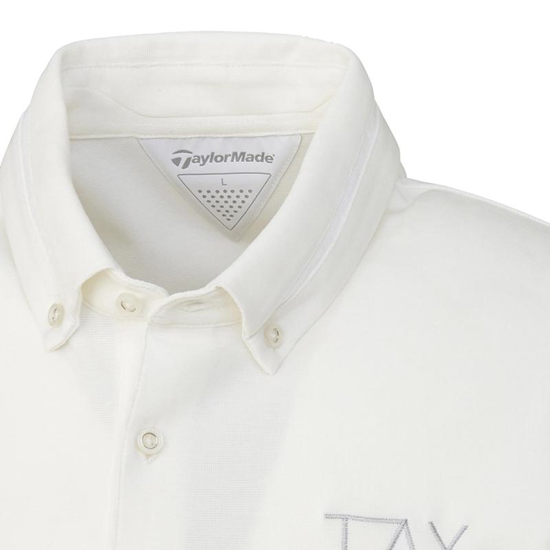 テーラーメイドゴルフ(TaylorMade Golf) ボタンダウン TMグラフィック S/S ポロ/ホワイト /LOB81 /U24275