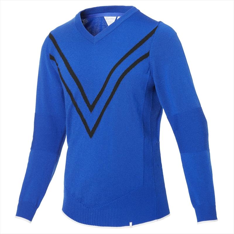 テーラーメイドゴルフ(TaylorMade Golf) 【ウィメンズ】 ベーシック Vネックセーター/ブルー /KY550 /U32537