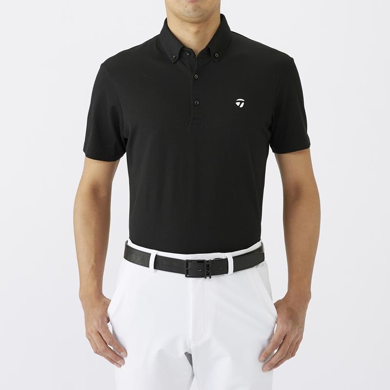 テーラーメイドゴルフ(TaylorMade Golf) テイラード ピケ ボタンダウン S/S ポロ/ブラック /LOB94 /U24335