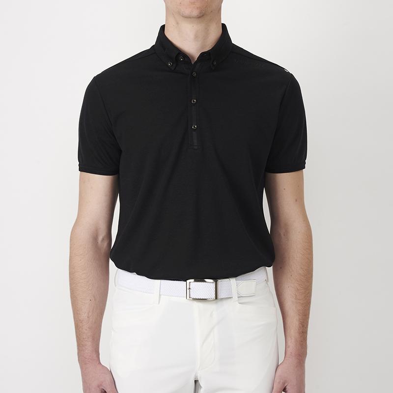 テーラーメイドゴルフ(TaylorMade Golf) ブレスウールボタンダウンS/Sポロ/ブラック /KL898 /N64898