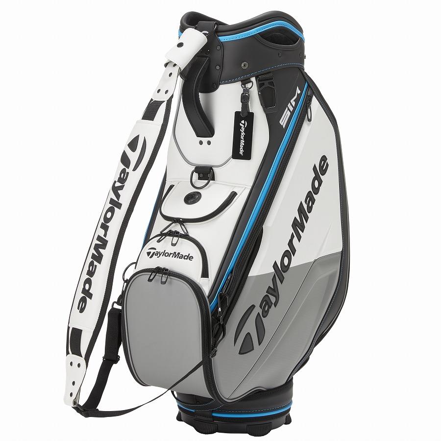 テーラーメイドゴルフ(TaylorMade Golf) グローバル ツアースタッフバッグ10.5型/ホワイト/グレー /KY772 /N77507