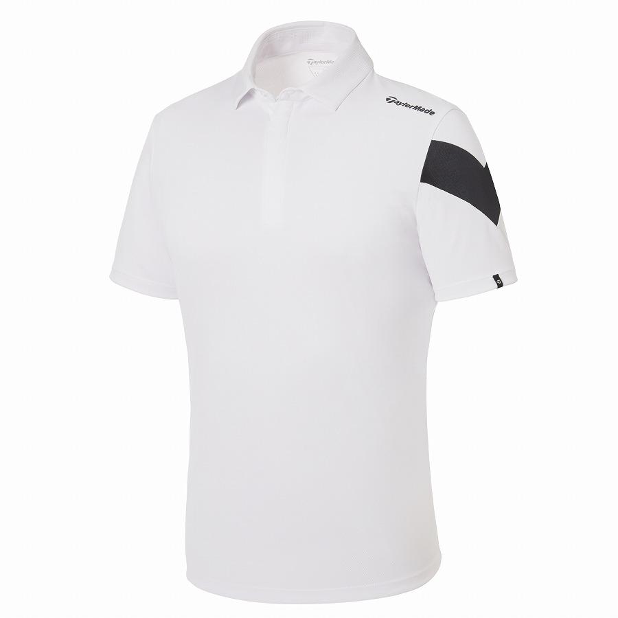 テーラーメイドゴルフ(TaylorMade Golf) アシンメトリースリーブ S/S ポロ/ホワイト