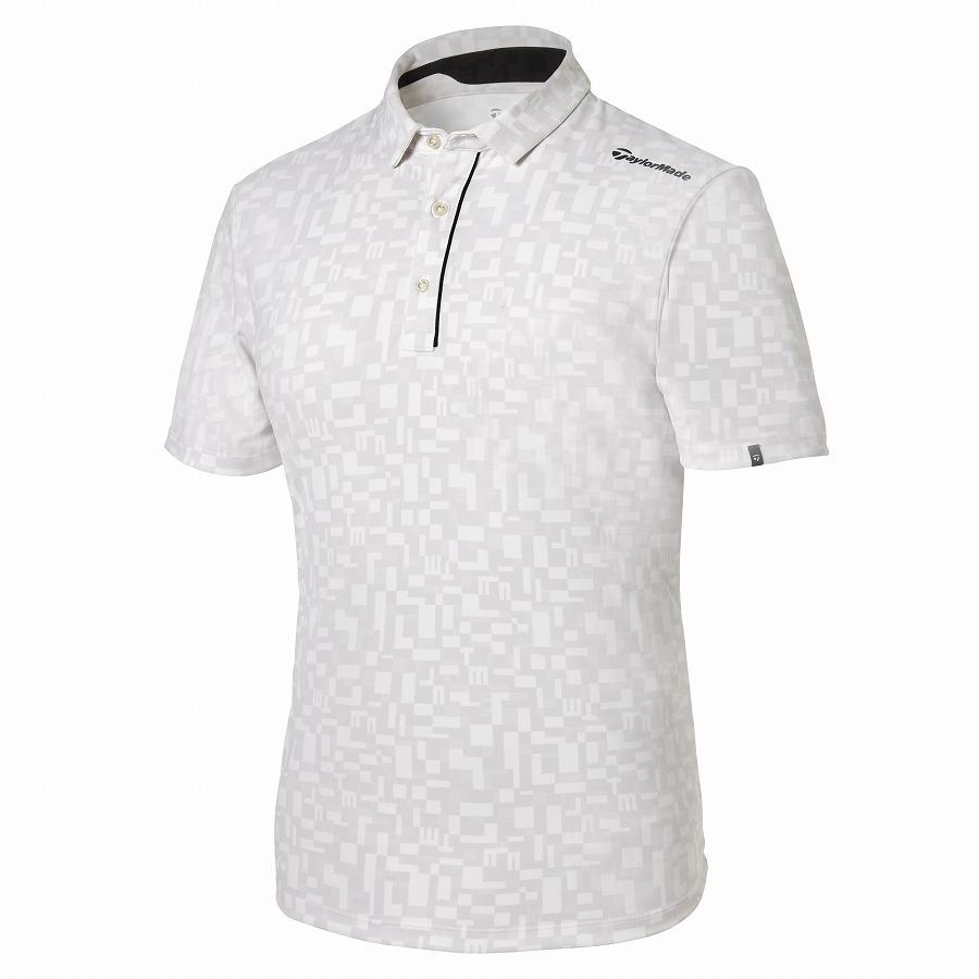 テーラーメイドゴルフ(TaylorMade Golf) オールオーバーグラフィック S/S ポロ/ホワイト /KY671 /U32832