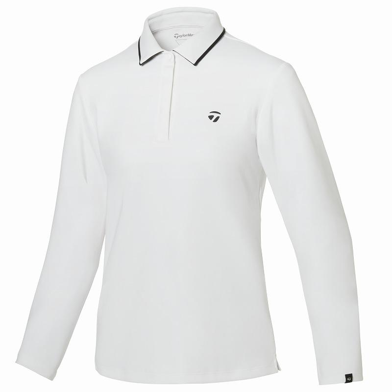 テーラーメイドゴルフ(TaylorMade Golf) 【ウィメンズ】 コントラストカラーエッジ L/S ポロ/ホワイト /KY564 /U32575