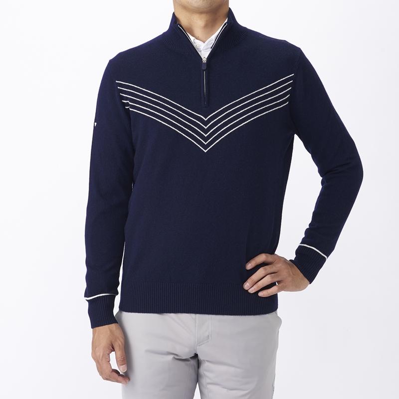 テーラーメイドゴルフ(TaylorMade Golf) カシミアブレンド セーター/ネイビー /KX694 /U23671