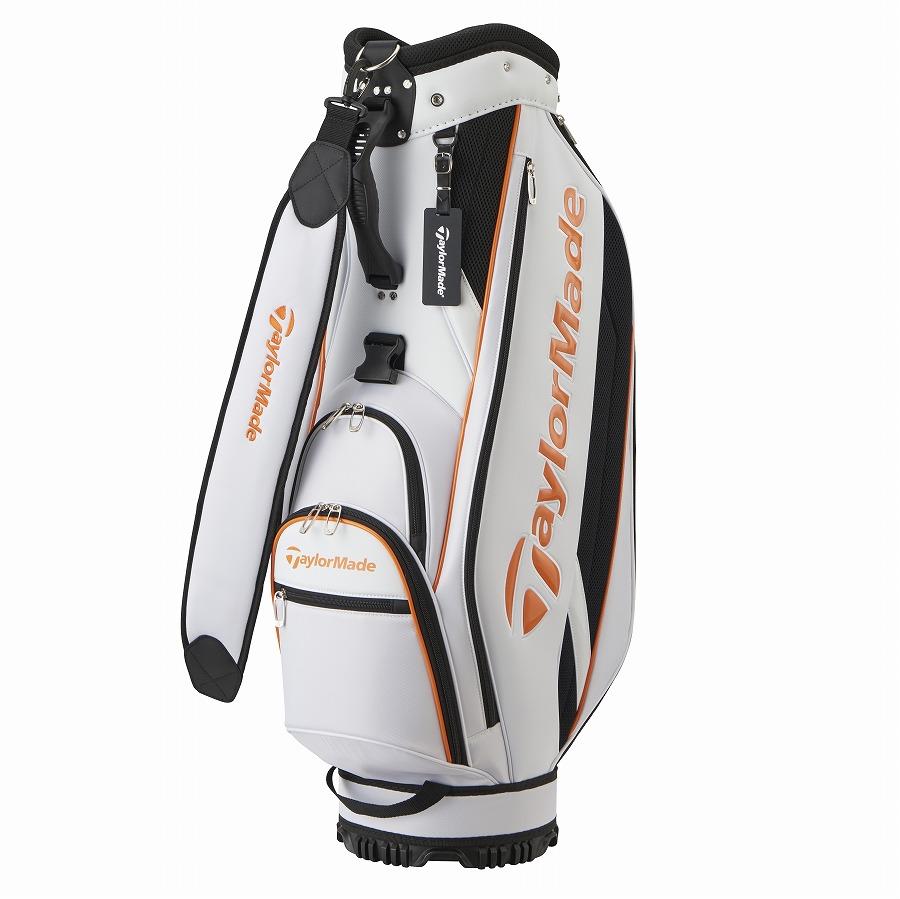 公式ショップ TaylorMade Golf テーラーメイド ☆新作入荷☆新品 ゴルフ 半額 ホワイト トゥルーライト キャディバッグ オレンジ