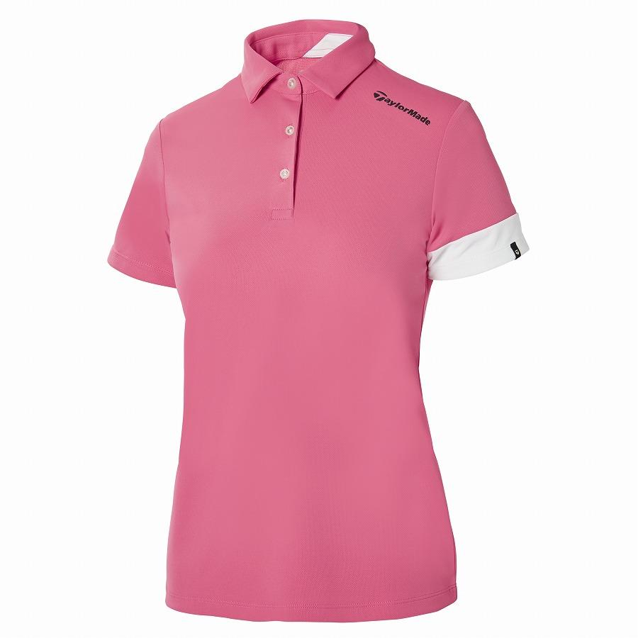 テーラーメイドゴルフ(TaylorMade Golf) バイカラースリーブ S/S ポロ/ピンク/ホワイト /KY688 /U32885