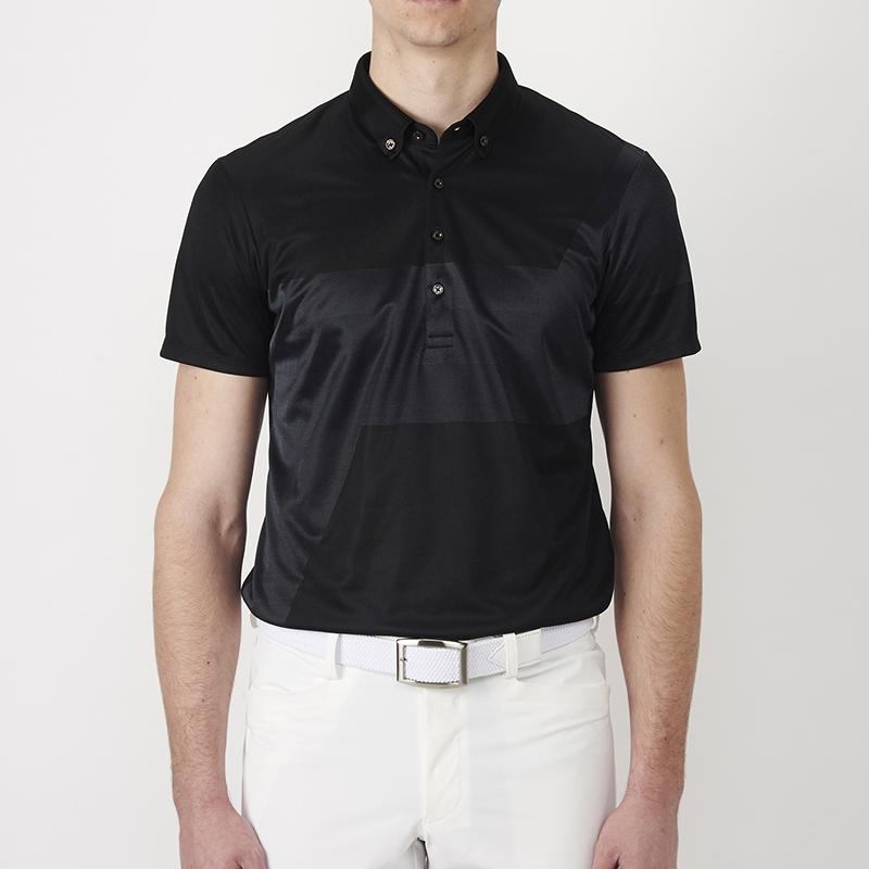 テーラーメイドゴルフ(TaylorMade Golf) テイラード・グラフィックジャカードS/Sポロ/ブラック /KL897 /N64895