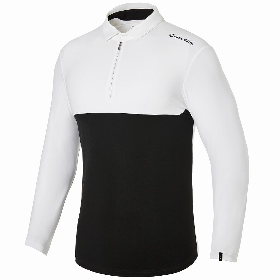 テーラーメイドゴルフ(TaylorMade Golf) カラーブロック L/S ポロ/ホワイト/ブラック /KY662 /U32808