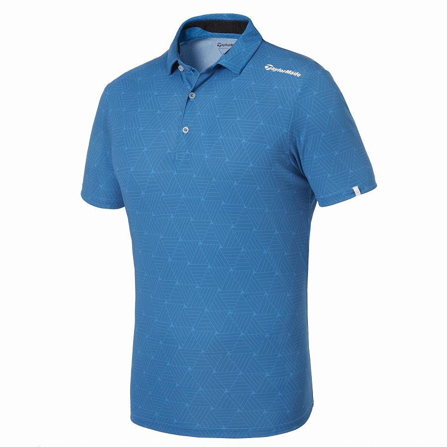 テーラーメイドゴルフ(TaylorMade Golf) オールオーバーグラフィック S/S ポロ/ライトブルー