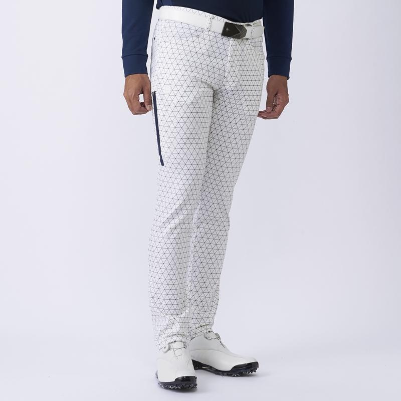 テーラーメイドゴルフ(TaylorMade Golf) トライアングル ジオメトリックパターン パンツ/ホワイト /KX716 /U23735