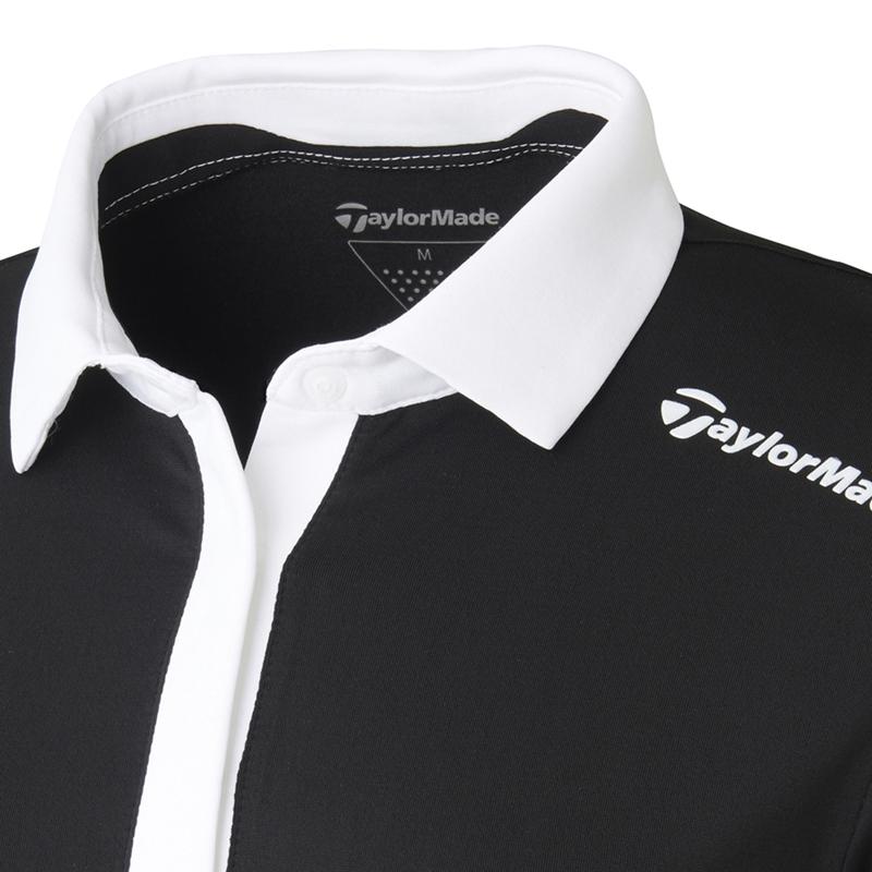 テーラーメイドゴルフ(TaylorMade Golf) カラーコントラスト L/S ポロ/ブラック /KY441 /U24754