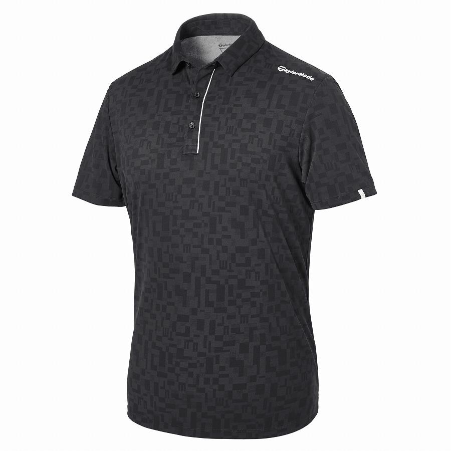 テーラーメイドゴルフ(TaylorMade Golf) オールオーバーグラフィック S/S ポロ/ブラック /KY671 /U32833
