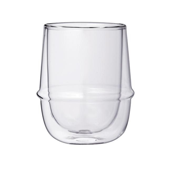 ポイント10倍 定番 ブランド おしゃれ キッチン用品 耐熱ガラス 贈呈 コップ KINTO キントー KRONOS ガラス シンプル 食器 耐熱 割り引き コップグラス クロノス ダブルウォールコーヒーカップ 23107 デザイン