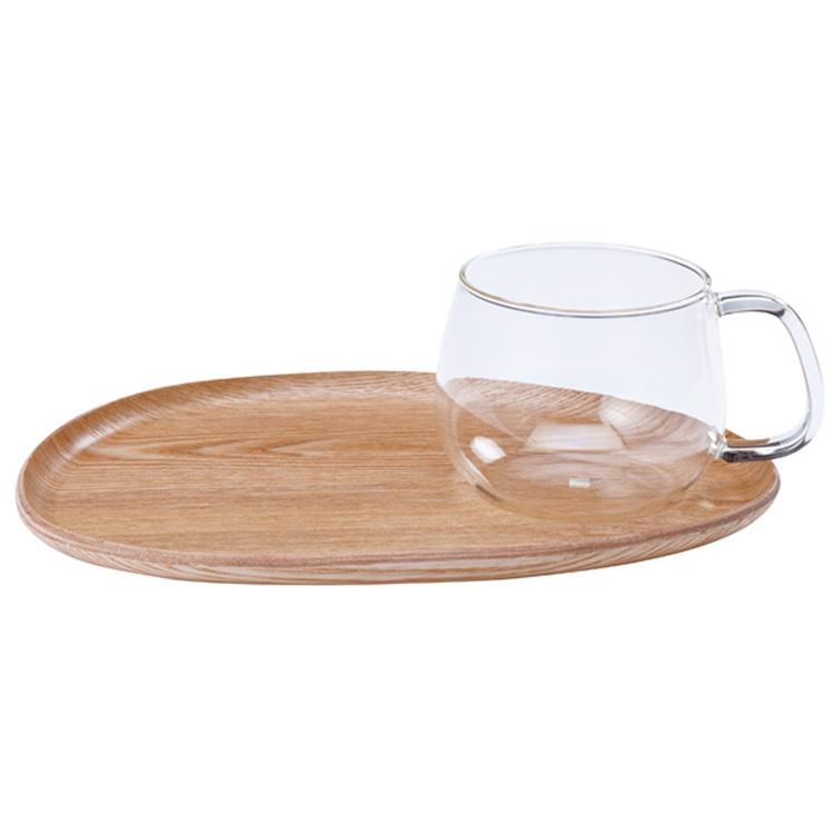ポイント10倍 定番 ブランド キッチン用品 KINTO キントー FIKA 安い フィーカ カフェランチ ウッド 即納 ガラス 木製 セット コップ デザイン おしゃれ 食器 カップ お盆 トレイ 22588 シンプル