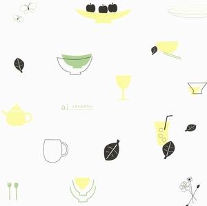ラッピング 正規逆輸入品 包装紙 新生活 食器のイラスト