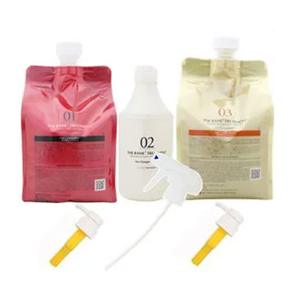 Treatment with the size (each 1Kg/500ml) HAHONICO pump trigger for  ハホニコラメラメトリートメント three points set lam lam NO1 NO2 NO3