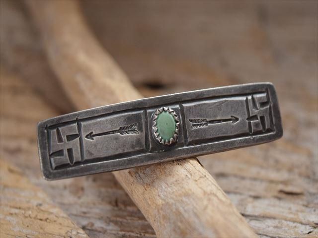 Vintage Indian Jewelry 卍(Whirling Log)シルバー(ingot)ピン(Pins) Fred Harvey era