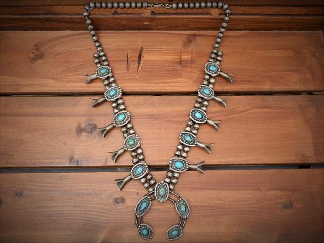 纯银 60 s 老 Pwan 老式 skuschblossum 项链娜嘉 (眼镜蛇) 美国原住民配件